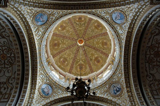 Dome of the Chapel of Naples. Guadalupe. Zacatecas. Mexico : Stock Photo