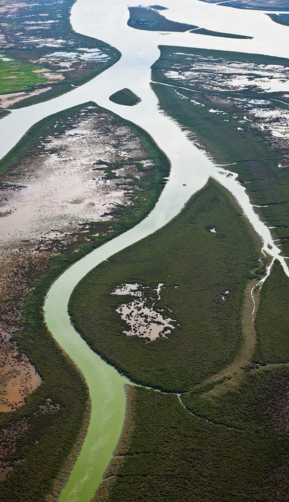 Stock Photo: 1566-455613 Mouth of Rio Tinto. Huelva province, Andalucia, Spain