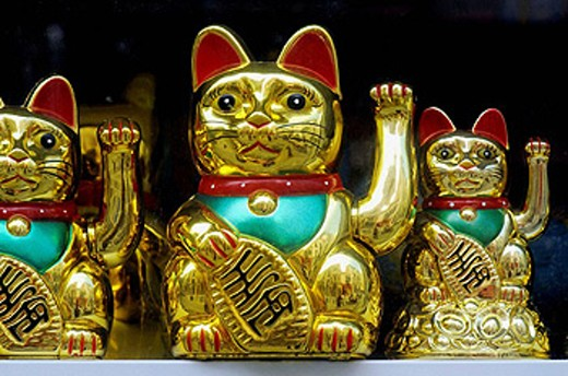 Fortune cats : Stock Photo