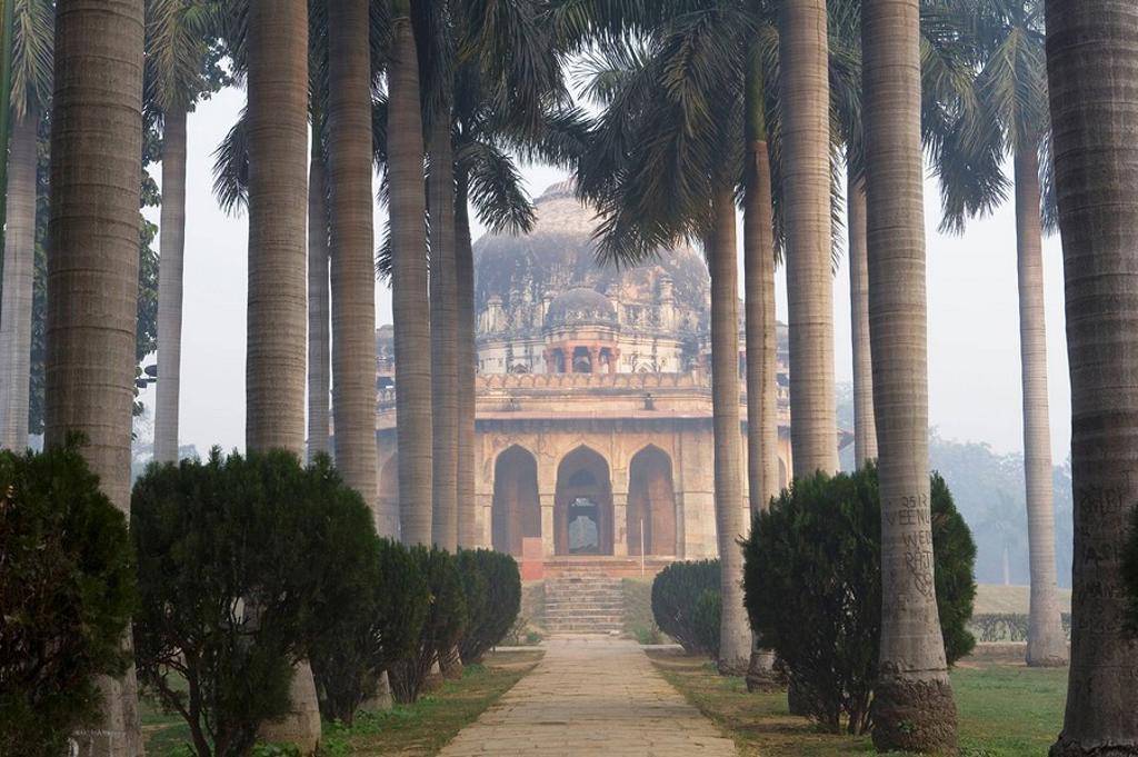 Stock Photo: 1566-455891 Tomb of Muhammad Shah, Lodhi Gardens, Delhi, India