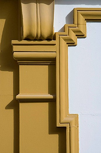 Stock Photo: 1566-456472 Architectural detail in Square of Doña Elvira in Santa Cruz district, Sevilla. Andalucia, Spain