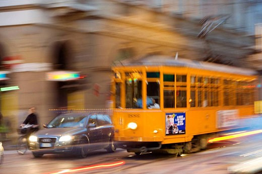 Tram , Milan, Italy : Stock Photo