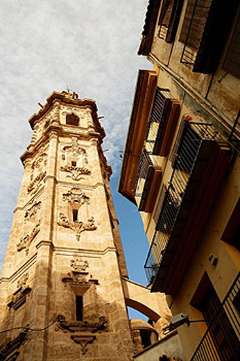 Stock Photo: 1566-458166 Santa Catalina tower in Valencia