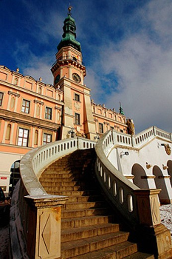 Town Hall,  Zamosc, Poland : Stock Photo