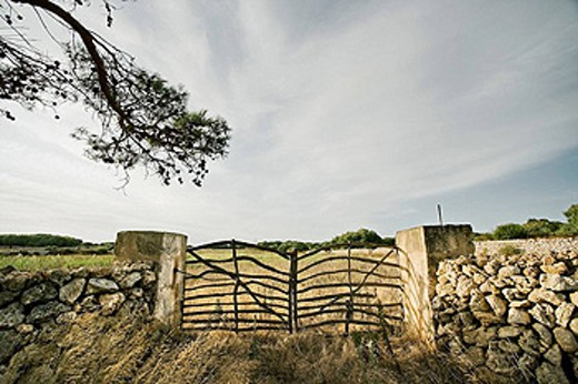 Stock Photo: 1566-460685 Typical fence, Minorca. Balearic Islands, Spain