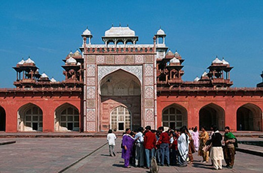 Stock Photo: 1566-460796 India, Uttar Pradesh, Agra, Sikandra, Sikander Lodi mausoleum, 1613