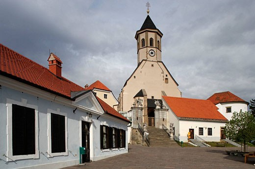 Ptujska Gora, Church of the Virgin Mary, Gothic style, 1400, Slovenia : Stock Photo