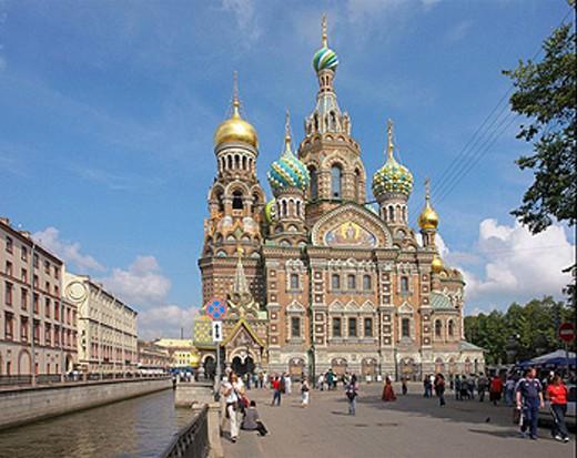 Stock Photo: 1566-461190 RUSSIA  Church of the Saviour on the Blood,  Saint Petersburg