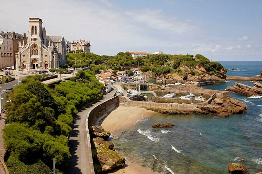 Biarritz. Aquitaine, Pyrenees-Atlantiques, France : Stock Photo