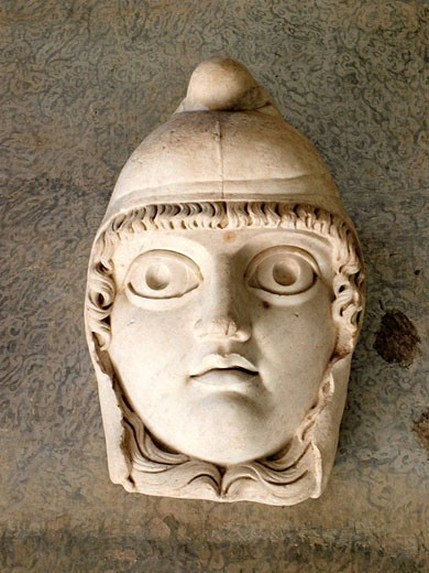 Stock Photo: 1566-463921 Theater Mask, Vatican Museum, Rome, Italy