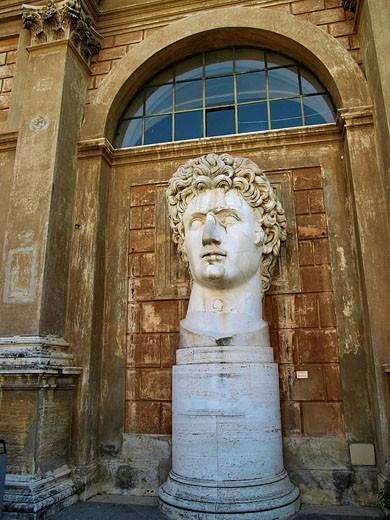 Adrianus Bust, Classic Sculpture. Vatican Museum. Rome, Italy : Stock Photo