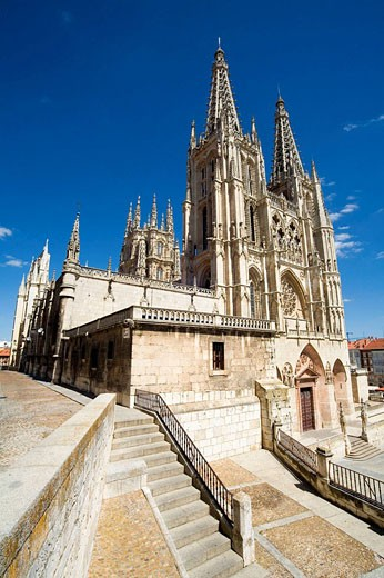 Gothic cathedral (13th century). Burgos. Castilla-León. Spain : Stock Photo