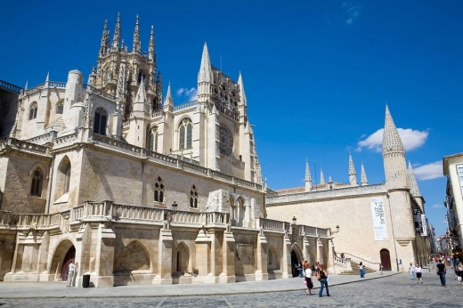 Gothic cathedral (13th century). Burgos. Castilla-León. Spain : Stock Photo