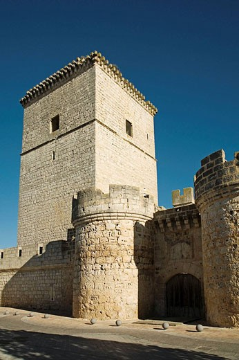 Castle, Portillo. Valladolid province, Castilla-Leon, Spain : Stock Photo