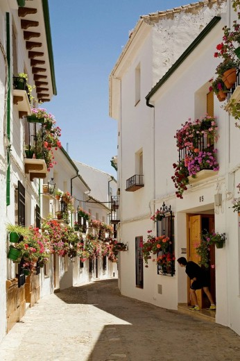 Street in the Villa district, Priego de Cordoba. Cordoba province, Andalucia, Spain : Stock Photo