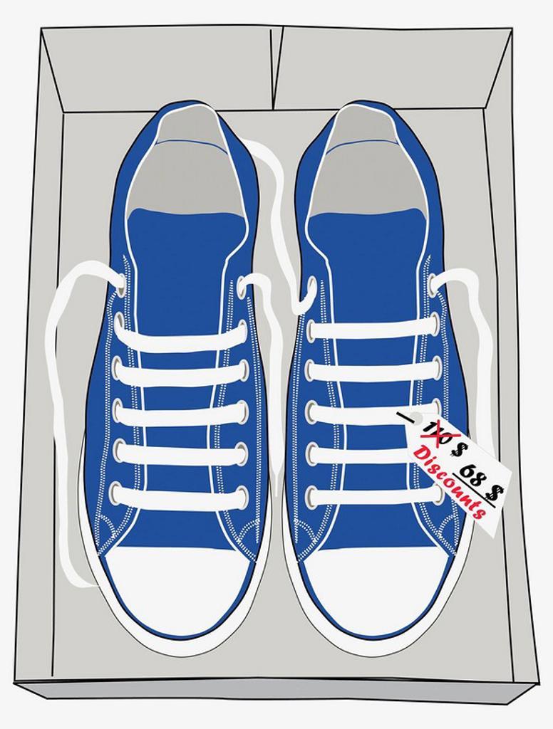 Stock Photo: 1566-465471 Zapatillas deportivas en rebajas