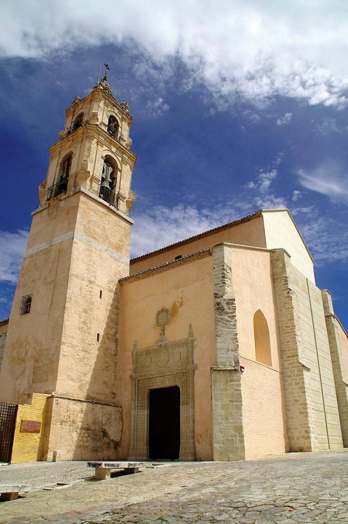 Baena (Córdoba). España. Iglesia de Santa María la Mayor en el casco histórico del pueblo cordobés de Baena : Stock Photo