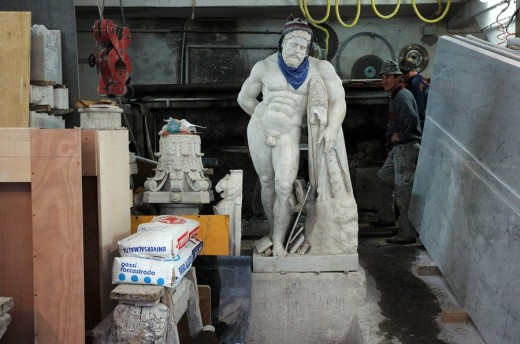 Stock Photo: 1566-466027 sculpture workshop in Rome