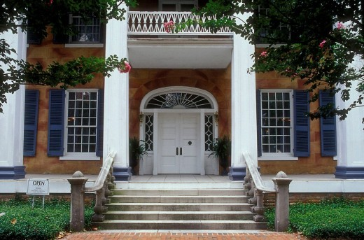 Battle-Friedman House (1835), Tuscaloosa, Alabama, USA : Stock Photo