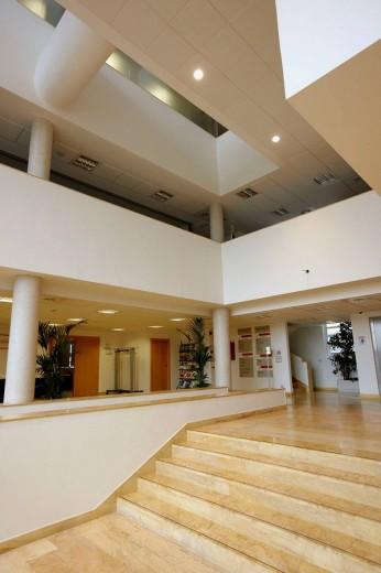 Hall, Inasmet-Tecnalia building, San Sebastian. Guipuzcoa, Basque Country, Spain : Stock Photo