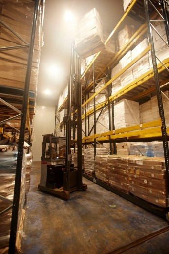 Stock Photo: 1566-467478 Cold-storage room, refrigerated and frozen salt cod distribution