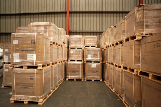 Goods in bonded warehouse. Port of Bilbao, Biscay, Basque Country, Spain : Stock Photo