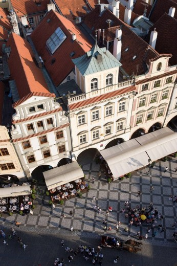 Rooftops old town square staromestske namesti. Prague. Czech Republic. : Stock Photo