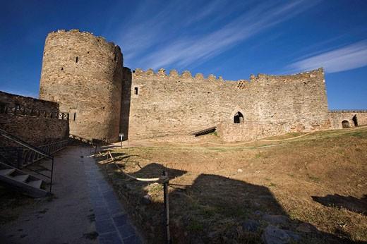 Ruinas del castillo Templario siglo XII y XIII,  Ponferrada. León . España : Stock Photo