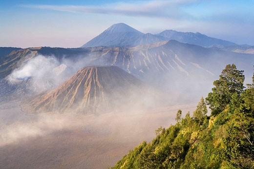 Bromo-Tengger-Semeru National Park, Bromo Volcano, Java, Indonesia : Stock Photo