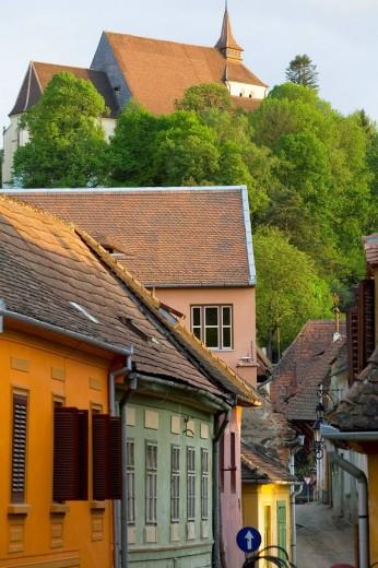 View to ´Church On The Hill´, Sighisoara, Transylvania, Romania : Stock Photo
