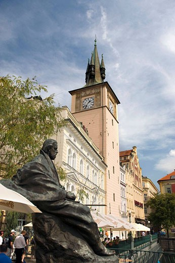 Statue bedrich smetana museum old town stare mesto. Prague. Czech Republic. : Stock Photo