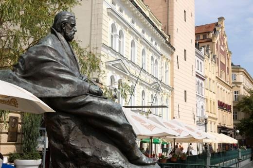 Statue bedrich smetana museum old town stare mesto. Prague. Czech Republic. : Stock Photo