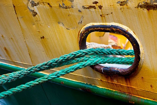 Stock Photo: 1566-470287 Fishing boat detail, fishing port, Ondarroa. Biscay, Basque Country, Spain