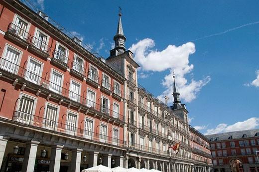 Casa de la Panadería in Plaza Mayor, Madrid. Spain : Stock Photo