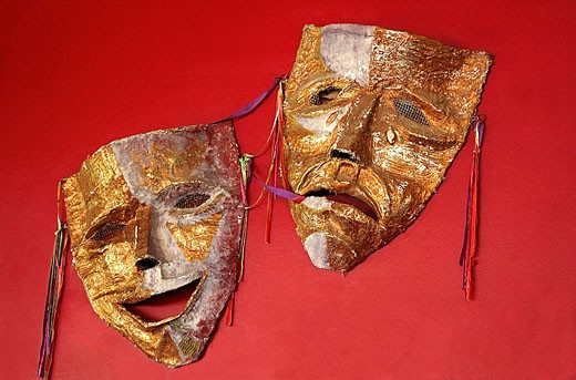 Stock Photo: 1566-470520 theatre masks
