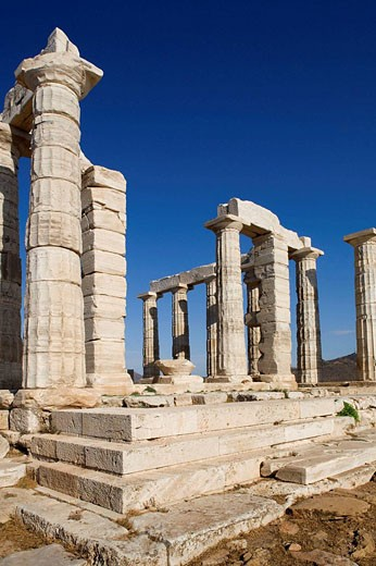 Temple of Poseidon, Cape Sounion. Attica, Greece : Stock Photo