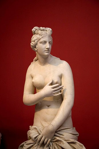 Statue of Aphrodite in the National Archaelogical Museum of Athens, Greece : Stock Photo