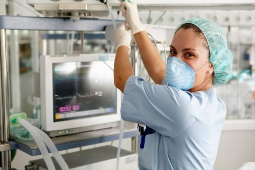 Box, Resuscitation unit. Hospital Universitario de Gran Canaria Doctor Negrin, Las Palmas de Gran Canaria. Canary Islands, Spain : Stock Photo