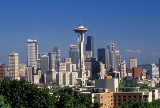 Stock Photo: 1566-471788 Seattle Washington Skyline