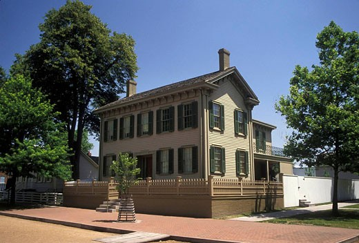 Stock Photo: 1566-471813 Historic Abraham Lincoln home Springfield Illinois