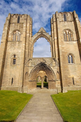 Ruins of Elgin Cathedral(S. XIV). Elgin. Aberdeenshire. Scotland. U.K. : Stock Photo