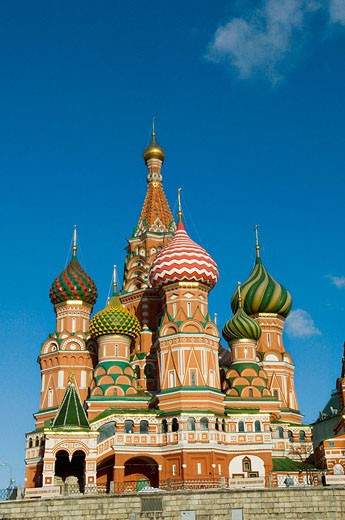 Stock Photo: 1566-473258 St  Basils Cathedral Red Square Moscow Russia
