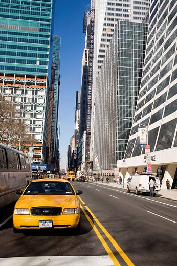 Stock Photo: 1566-474609 New York, Taxi