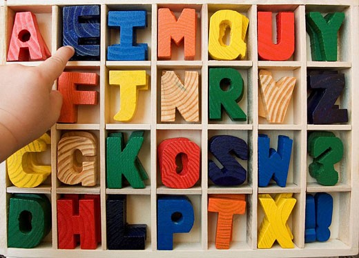 Stock Photo: 1566-474721 Construction game of words