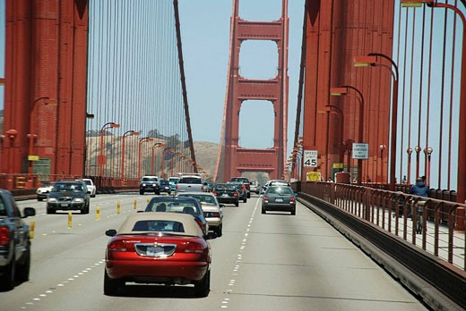 San Francisco California, the Golden Gate Bridge : Stock Photo