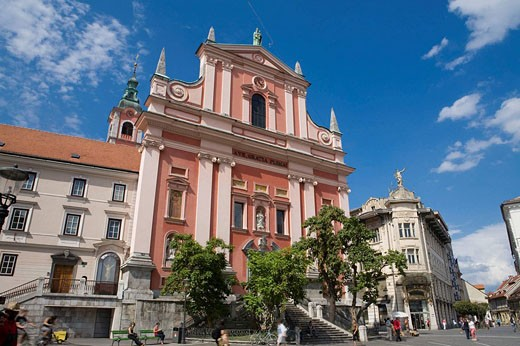 Church of the Annunciation, Ljubljana, capital of Slovenia, Europe. : Stock Photo