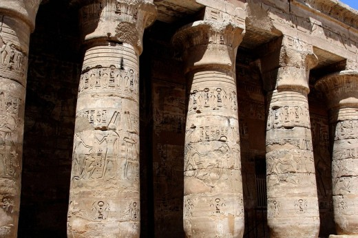 Stock Photo: 1566-475414 Medinet Habu temple, Luxor, Egypt