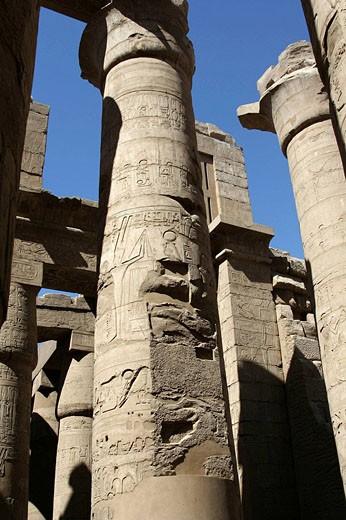 Karnak temple, Luxor city, Egypt : Stock Photo