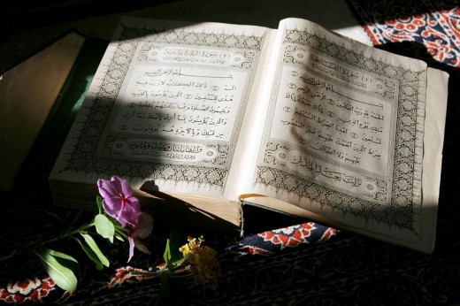 Stock Photo: 1566-475453 Holy Koran, Muslims Holy book