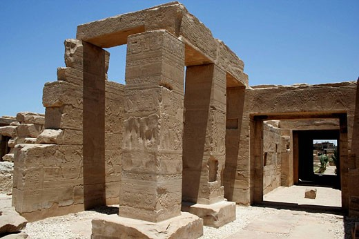 Stock Photo: 1566-475469 Temple of king Seti I the father of Rameses II 19th dynasty, ruled 1318-1304 BC, west bank, luxor Thebes, Egypt